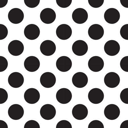 Vector Seamless Patterns With White And Black Peas Polka