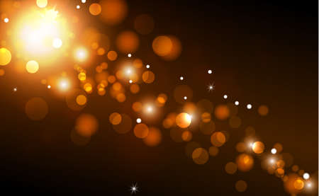 Illustration for Bright bokeh with highlights on a dark background - Illustration - Royalty Free Image