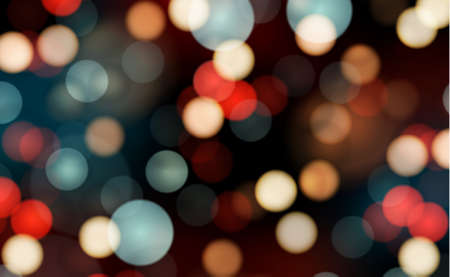 Illustration pour Bright bokeh with highlights on a dark background - Illustration - image libre de droit