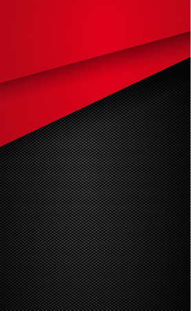 Illustration for Black and gray carbon fiber texture with red accents - illustration - Royalty Free Image