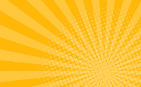 Illustration pour Orange comic zoom with lines and glow - Vector illustration - image libre de droit