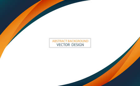Illustration for Abstract web template black and orange lines on white background - Vector illustration - Royalty Free Image