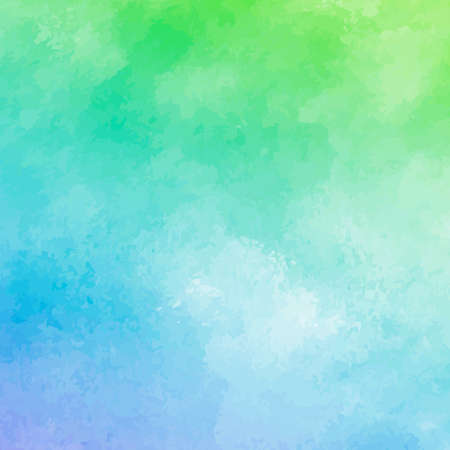 Illustration pour Panoramic texture of realistic multi-colored watercolor on a white background - Vector illustration - image libre de droit