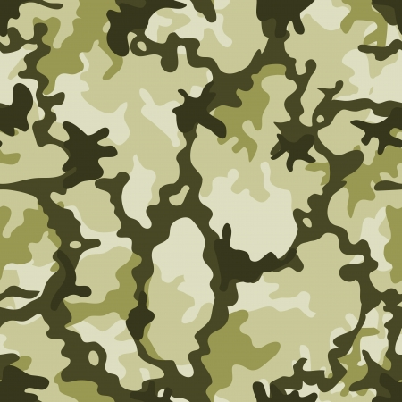 Illustration of a military camouflage with green shades for army background and camo wallpap