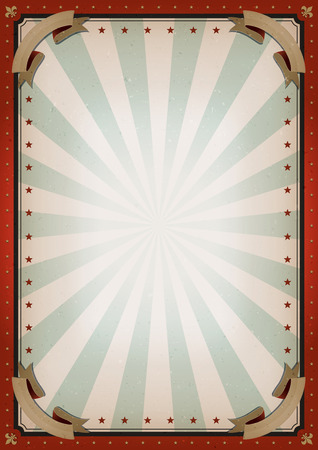 Illustration pour Illustration of retro and vintage circus poster background, with empty space and grunge texture for arts festival events and entertainment background - image libre de droit