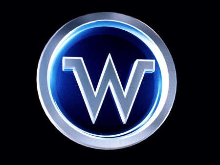 Letter W button