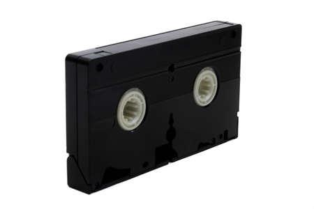 Photo pour A video cassette isolated on a white background - image libre de droit