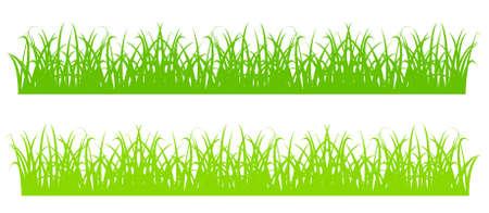Design element - silhouette of cartoon green grass. vector