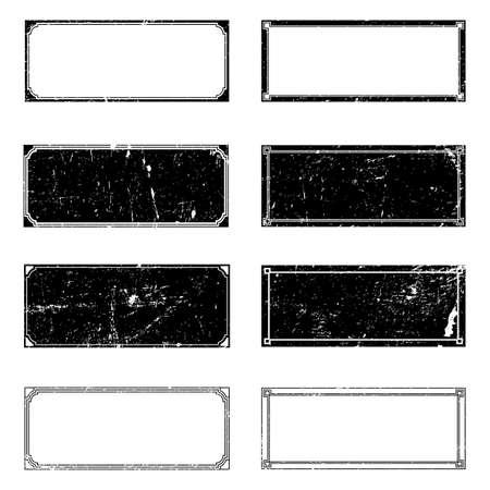 Rectangle Grunge Frames Set for your design. EPS10 vector.