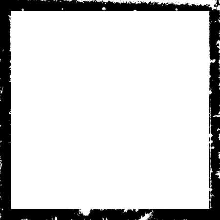 Illustration pour Empty border overlay background for aging your design. Grunge square frame border texture set. Distress damaged edge urban vintage template collection. Brush stroke element. EPS10 vector. - image libre de droit