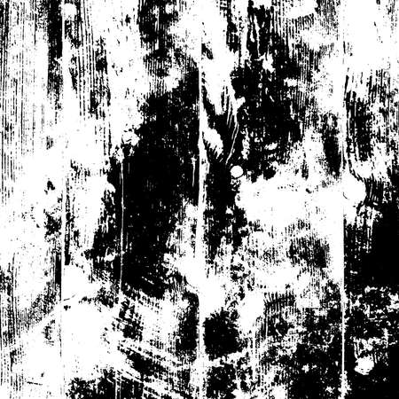 Illustration for Distressed black overlay texture. Grunge dark messy background. Dirty empty cover template. Ink brushed renovate wall backdrop. Insane aging design element. EPS10 vector - Royalty Free Image
