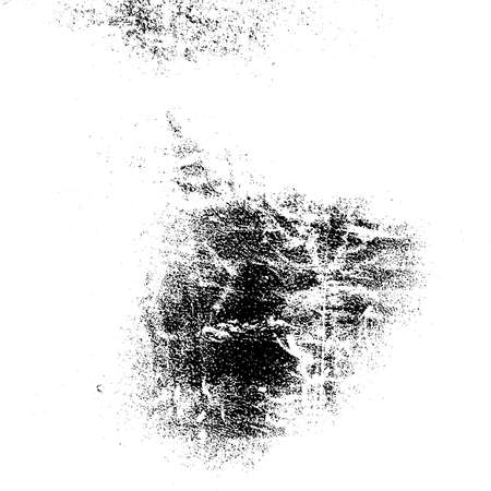 Illustration pour Distressed grainy overlay texture. Grunge dark corner messy background. Dirty paper empty cover template. Ink stroke brushed square shape backdrop. Insane aging border design element. EPS10 vector - image libre de droit