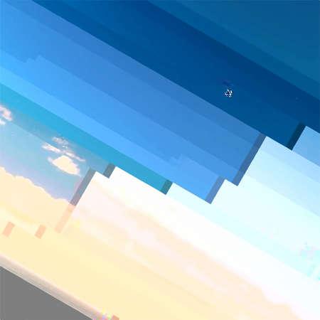 Illustration pour Abstract Glitch distress texture. Cyber hacker attack theme creative design template. Grunge glitched color pixel background. EPS10 vector - image libre de droit