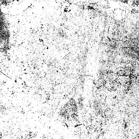 Illustration pour Distress urban used texture. Grunge rough dirty background. Brushed black paint cover. Overlay aged grainy messy template. Renovate wall scratched backdrop. Empty aging design element. EPS10 vector. - image libre de droit