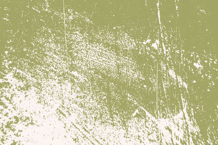 Illustration pour Dirty rustic rough empty cover template. Distressed spray green grainy back texture. Grunge dust messy background. Aged splatter crumb wall backdrop. Weathered aging design element. EPS10 vector - image libre de droit