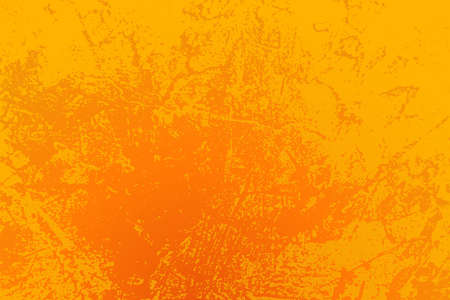 Illustration for Empty grunge yellow color background. Distressed Orange Color Texture with peeled paint and scratches. - Royalty Free Image