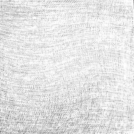 Illustration for Distress thread used texture. Grunge rough dirty background. Shabby black cotton cover. Overlay aged grany messy template. Cloth linen sack backdrop. Empty aging design element. EPS10 vector. - Royalty Free Image