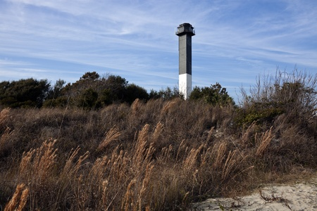 Charleston lighthouse located on Sullivan's Island in South Carolina