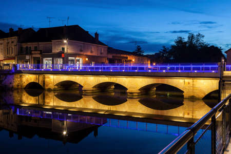 Bridge in Paray-le-Monial. Paray-le-Monial, Bourgogne-Franche-Comte, France.