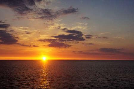Sunset on the Wadden Sea