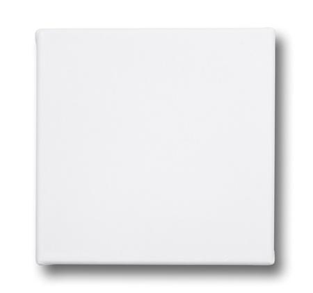 Photo pour Square canvas on a stretcher. isolated on white  - image libre de droit