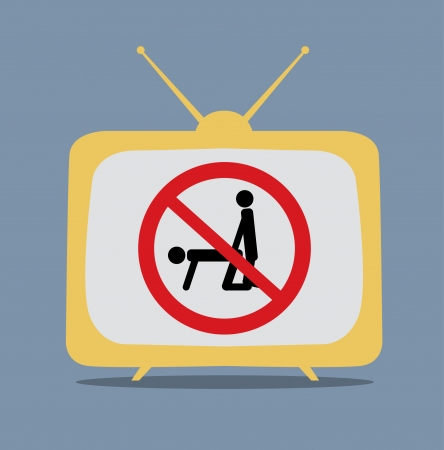 No sex sign on tv