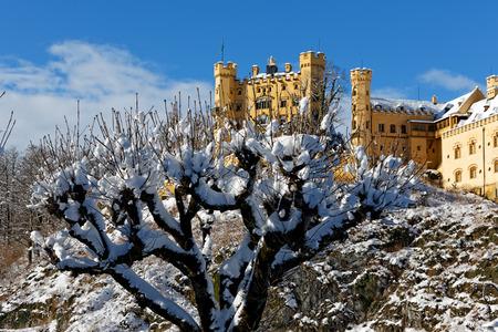 Winter in Bavaria - Hohenschwangau Castle.