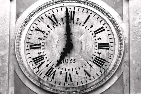 Foto per Ancient Atrani church Clock close up - Amalfi Coast - Italy - Immagine Royalty Free
