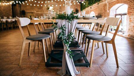 Foto für elegant table set, tables and chairs in restaurant - Lizenzfreies Bild