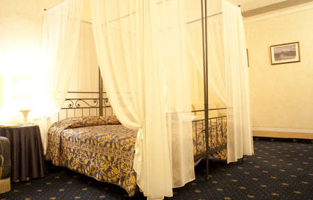 Bed in an albergue room