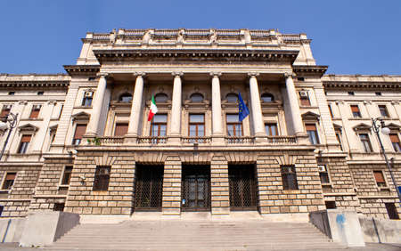 View of the courthouse Triste, Italy