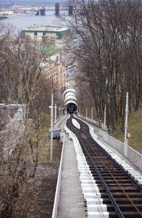 Cableway in action, Kiev - Ukraine