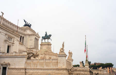 The Altare della Patria (Altar of the Fatherland) also known as the Monumento Nazionale a Vittorio Emanuele II (National Monument to Victor Emmanuel II) or Il Vittoriano in Rome, Italy