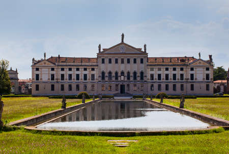 STRA, ITALY - AUGUST, 25: View of the Villa Pisani on August 25, 2014