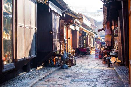Photo pour Typical street market in Sarajevo, Bosnia and Herzegovina - image libre de droit