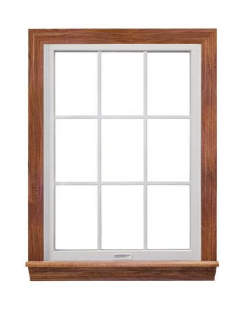 Residential window isolated on white