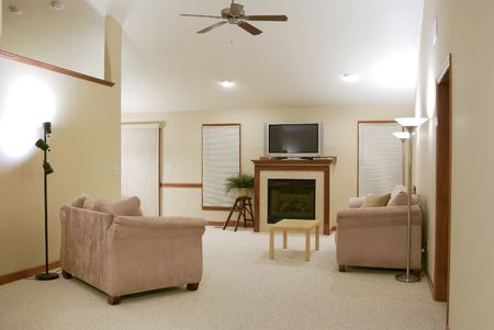 Sparsely Decorated Living Room