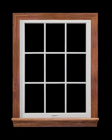 Window Frame Isolated on Black