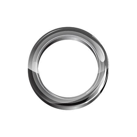 Illustration pour 3D Shiny Eyelet Ring Metal Vector - image libre de droit