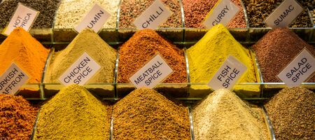 Spices and at the Spice Market in Istanbul