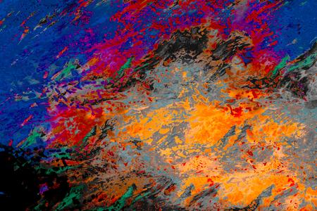 Foto de Abstract marbling art patterns - Imagen libre de derechos
