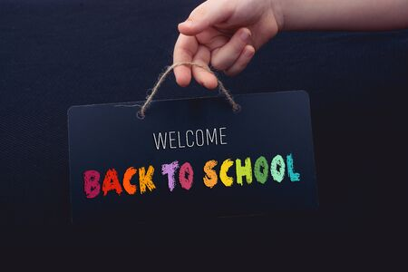 Photo pour Back to school wording as education, teaching and learning concept - image libre de droit