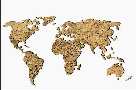 Foto de Roughly sketched out world map as global business concepts - Imagen libre de derechos