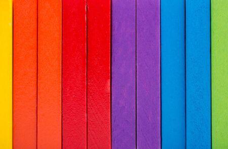 Photo pour Coorful domino blocks for  colorful background texture - image libre de droit