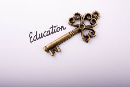 Photo pour Education wording beside a retro style key  as education concpt - image libre de droit