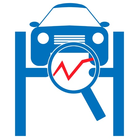 Automotive diagnostic repair icon