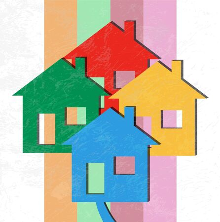 Vector 3D Houses