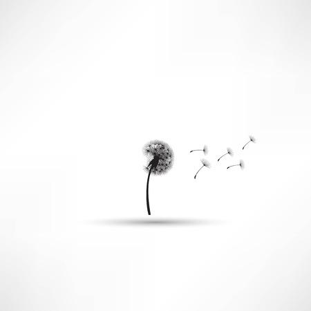 blowing dandelion vector