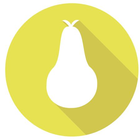 pear icon with a long shadow