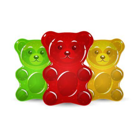 Illustration pour Jelly bears set vector illustration. - image libre de droit
